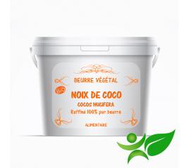 Noix de coco BiO - raffiné, beurre végétal (Cocos nucifera) - Aroma Centre