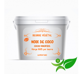 Noix de coco BiO - vierge, beurre végétal (Cocos nucifera) - Aroma Centre