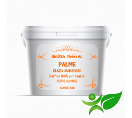 Palme - RSPO raffiné, beurre végétal (Elaeis Guinensis) - Aroma Centre