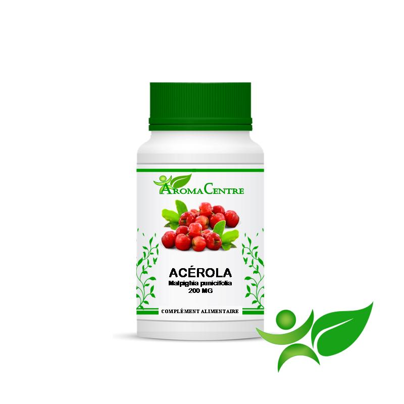 Acérola Fruit, gélule (Malpighia punicifolia) 200mg - Aroma Centre