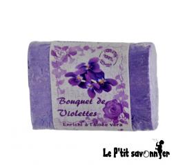 Violette, savon enrichi à l'Aloès Véra - Le P'tit Savonnier