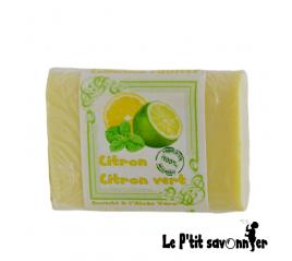 Citron-citron vert, savon enrichi à l'Aloès Véra - Le P'tit Savonnier