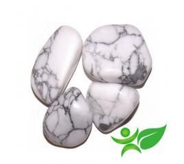 Howlite blanche, Pierre roulée - Gemstones