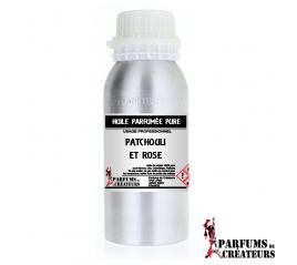 Patchouli et rose - Huile parfumée pure PRO - Parfums de Créateurs