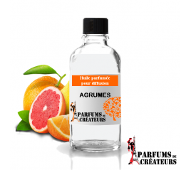 Agrumes, Huile parfumée spéciale pour diffusion 10ml - Parfums de Créateurs